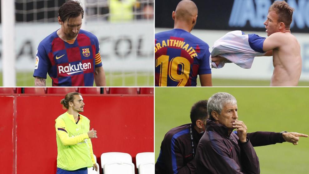 Messi, Arthur, Griezmann and Setien