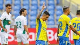 Rubén Castro celebra el gol de Las Palmas el día de su 39...