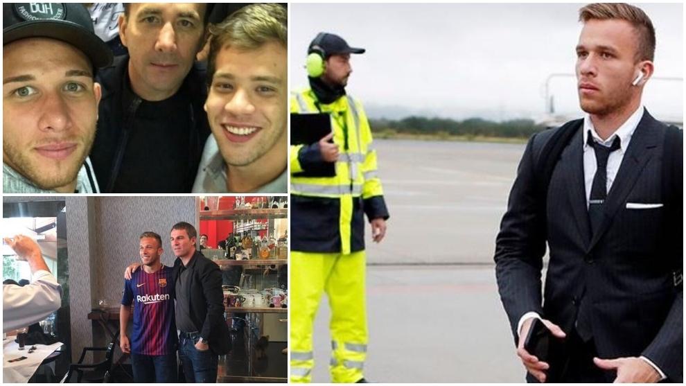 El 'séquito' de Arthur rumbo a Turín: viajó Robert Fernández... pero como amigo