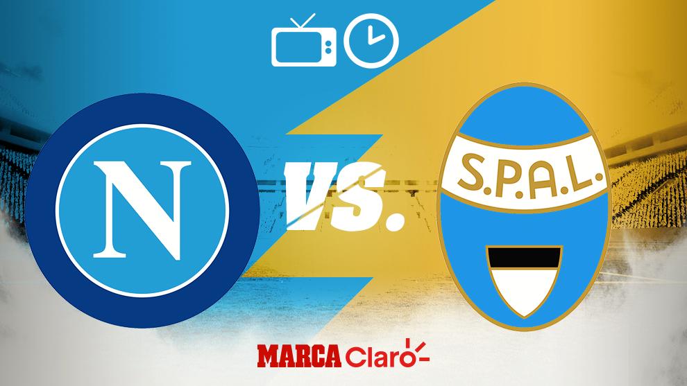 Horario y dónde ver en vivo el Napoli vs SPAL de la Serie A.