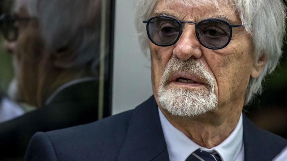 Bernie Ecclestone, en un Gran Premio de 2019.