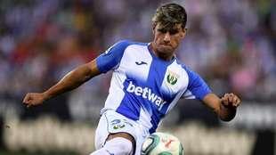 Javier Avilés durante un partido con el Leganés