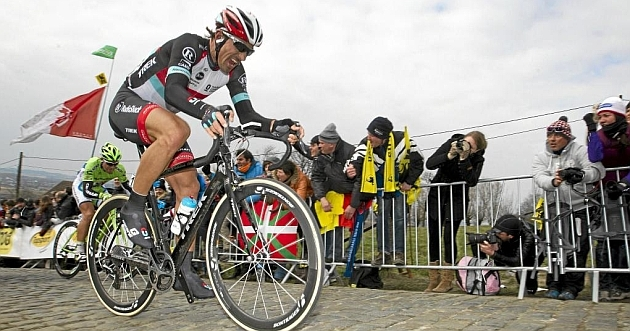 Fabian Cancellara en pleno esfuerzo