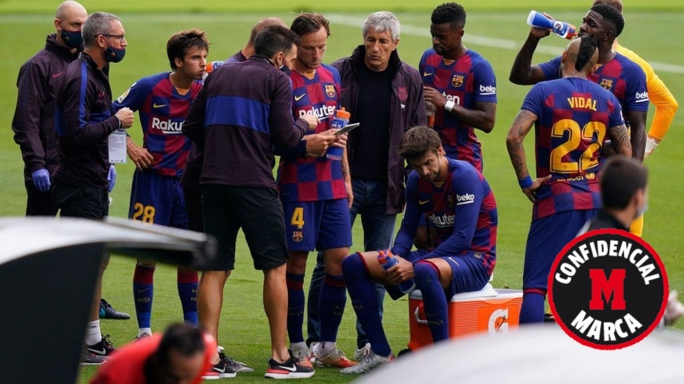 Argument between Setien and Barcelona squad in dressing room at Balaidos