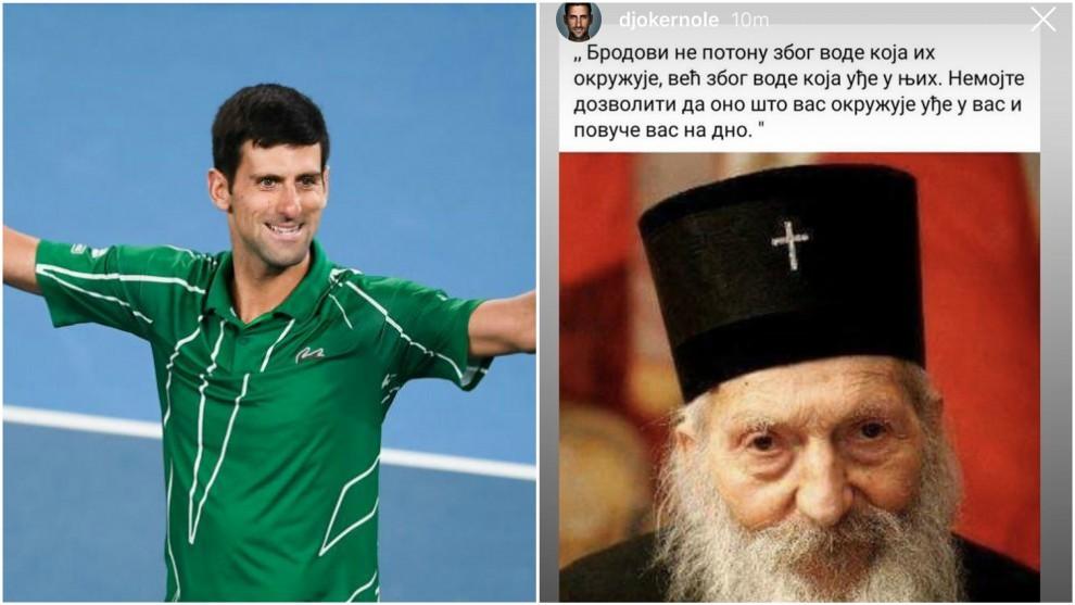 Djokovic y su historia en Instagram
