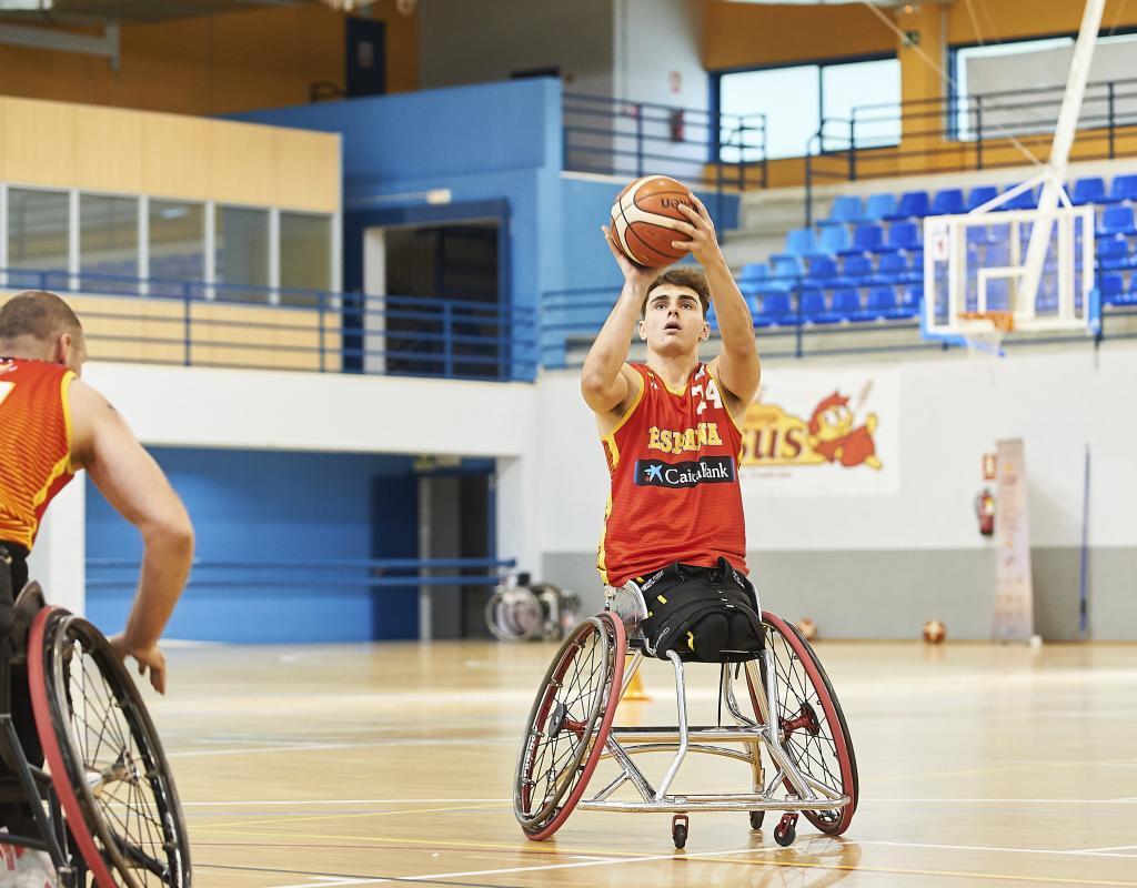 'Pincho' Ortega, con la selección española absoluta de baloncesto en...