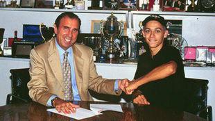 Beggio, con Valentino Rossi.