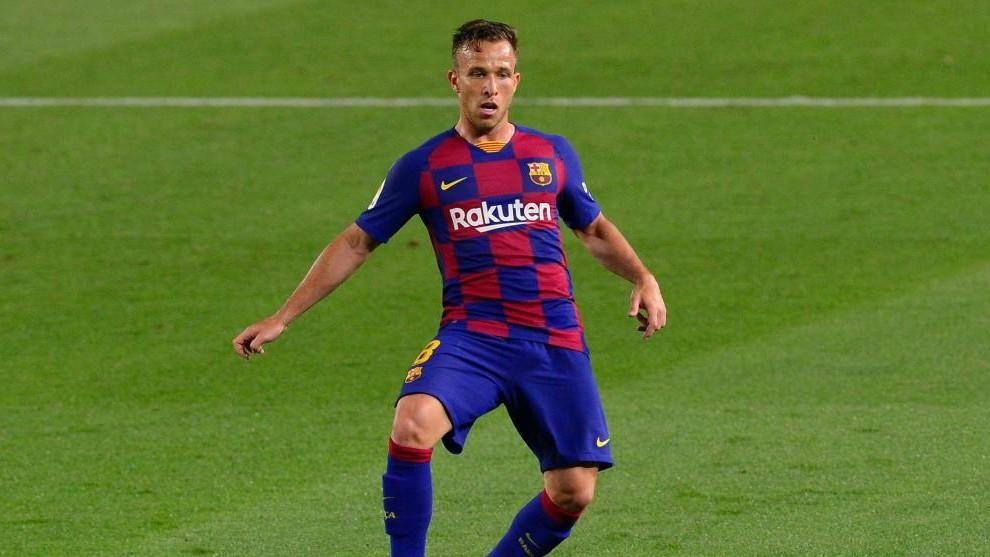 Arthur, en un partido del Barcelona.