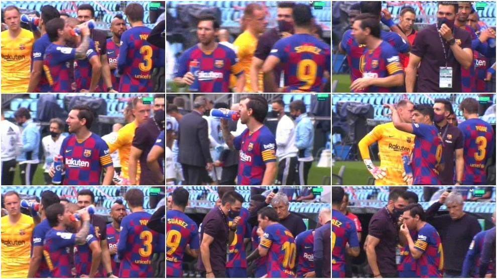 La ninguneada de Messi al asistente de Setién que ha causado polémica
