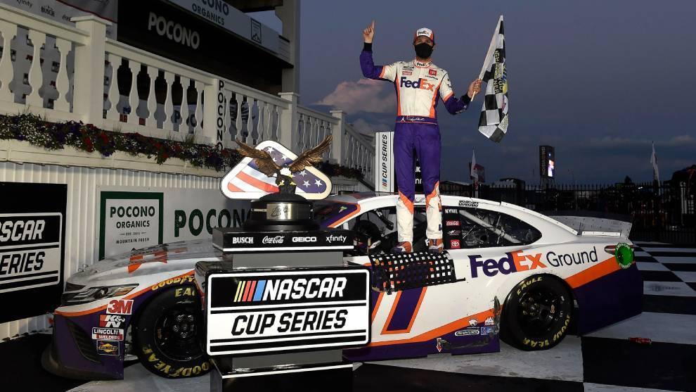Denny Hamlin, el ganador en la Nascar Cup Series
