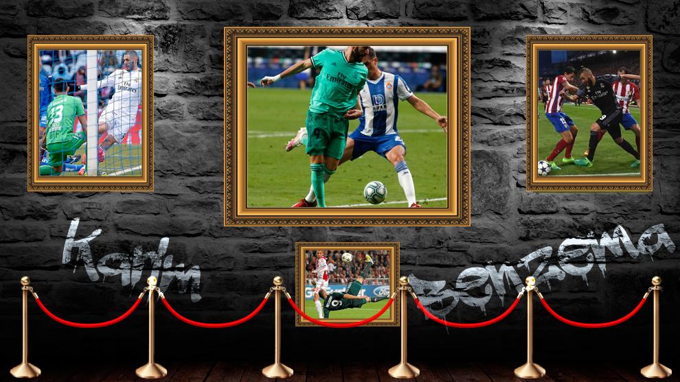 Benzema cuelga otra obra de arte en su sala