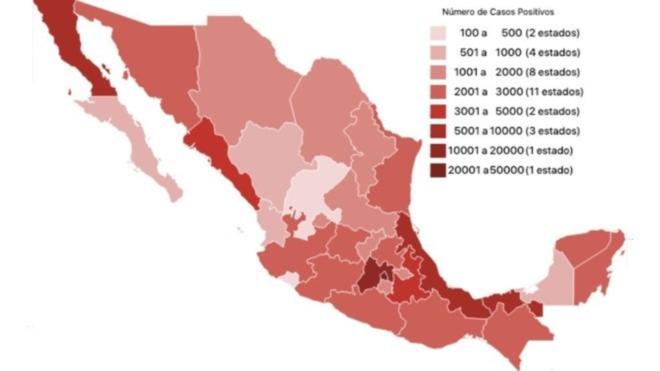 Estados de la República con Covid-19.
