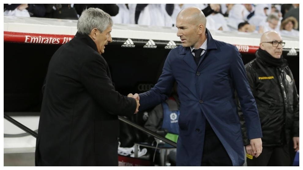 Setien and Zidane