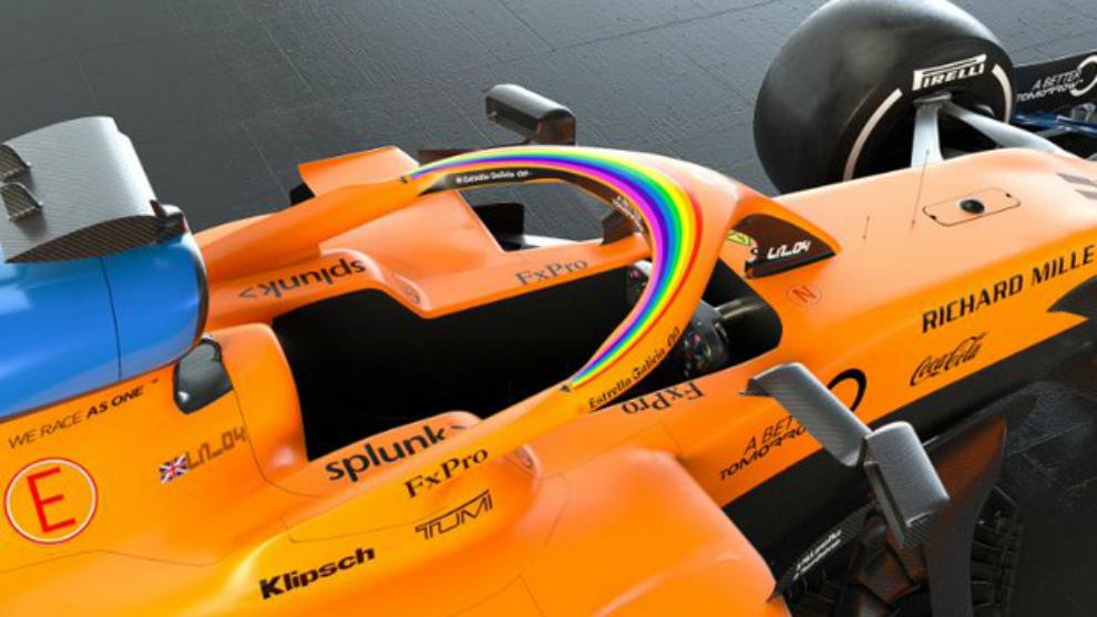 El MCL35 con el que correrá Sainz este año.