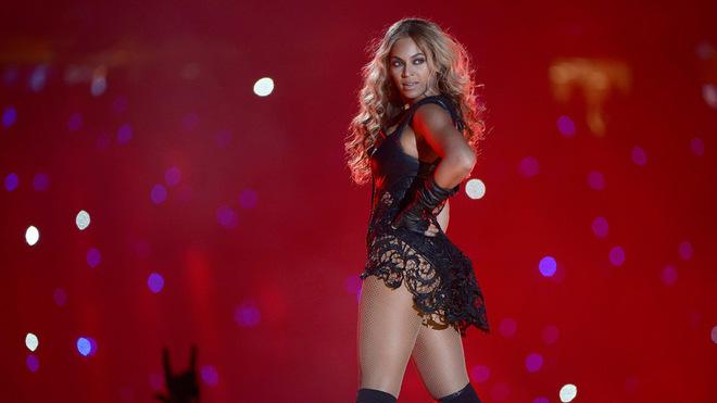 En la imagen, la cantante Beyoncé durante un concierto.