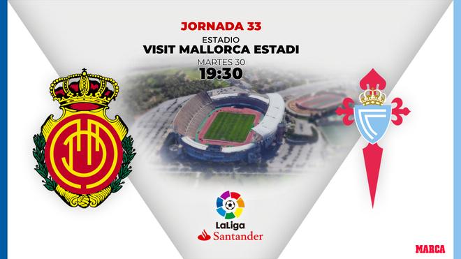 Mallorca - Celta: horario y dónde ver en TV el partido de Liga