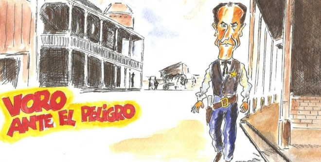 Ilustración del periodista y dibujante Luis Furió de 2008.