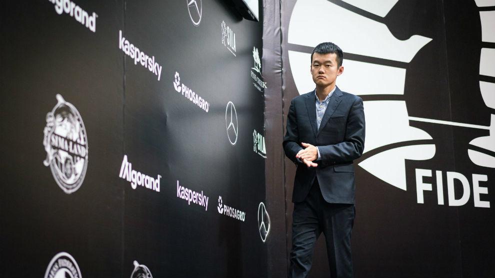 El chino Liren Ding, en un torneo de la FIDE.