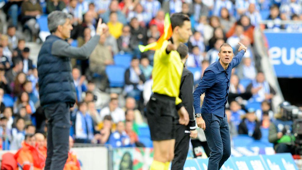 Garitano e Imanol, en el último derbi que enfrentó a Athletic y...
