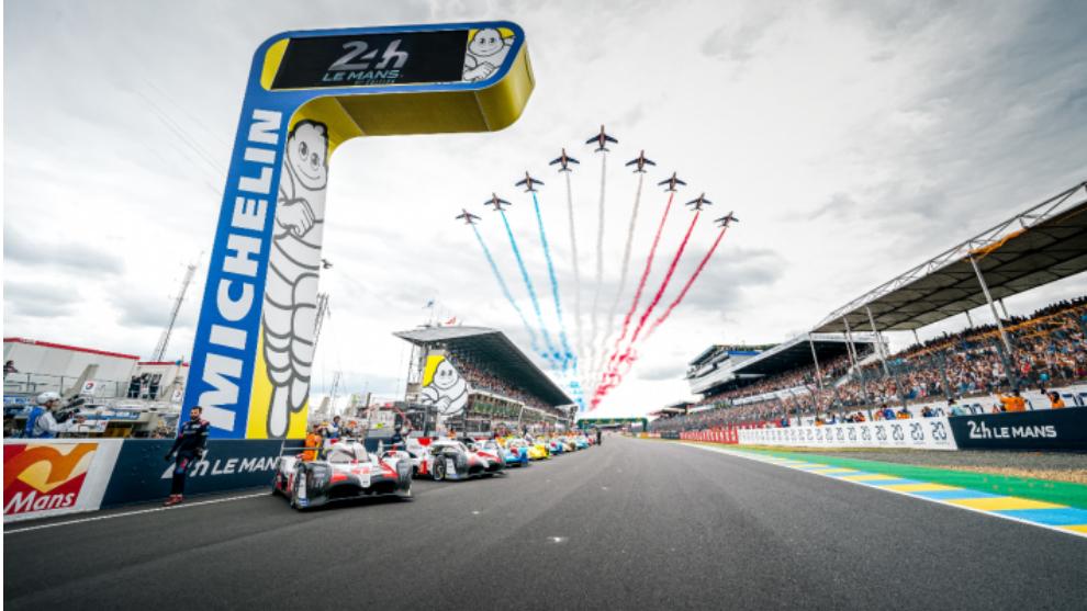 Imagen de una edición anterior de las 24 Horas de Le Mans.