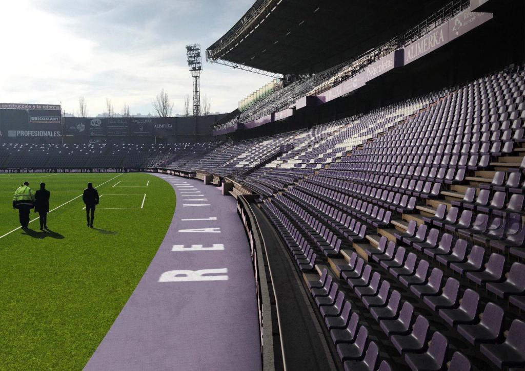 Estadio Nuevo Zorrilla, donde se ha jugado el partido, hasta ahora,...