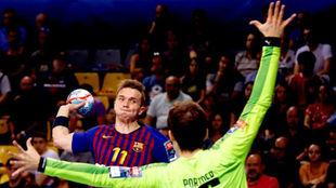 El lateral danés Lasse Andersson, en un partido con el Barcelona /