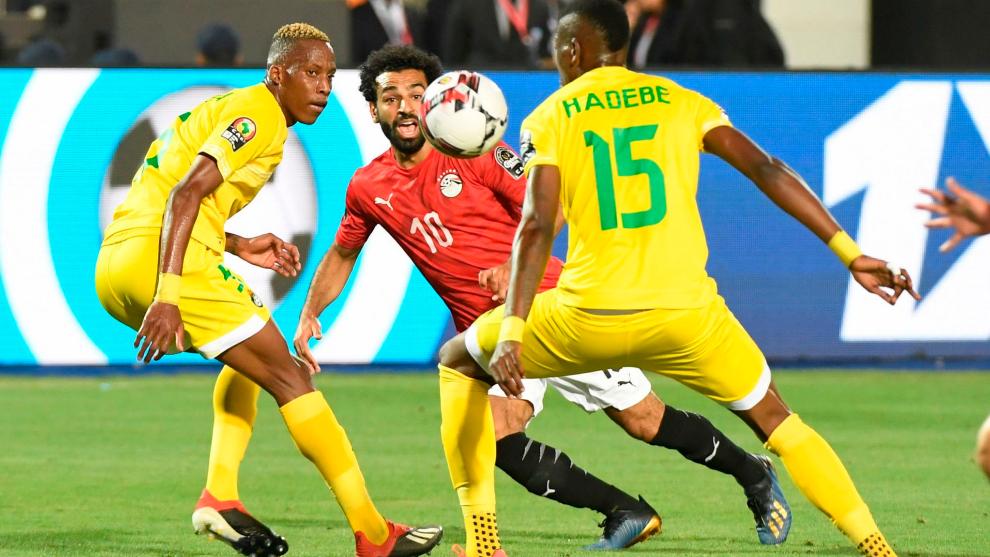 Salah, durante la pasada Copa África
