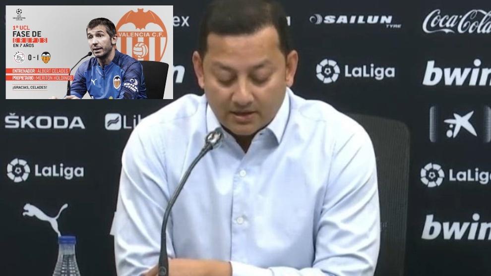 Murthy señala a los jugadores del Valencia.