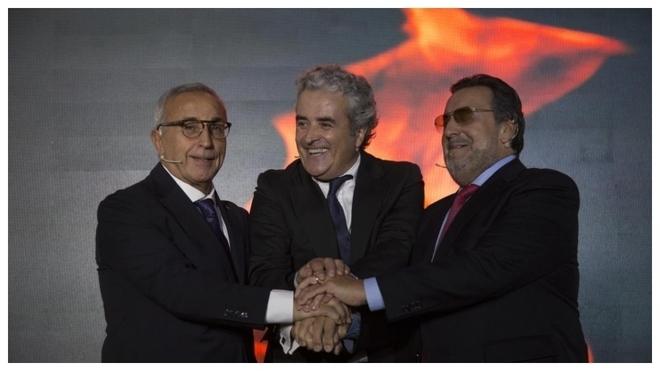 Alejandro Blanco (COE), Iñaki Ereño (Sanitas) y Miguel Carballeda...