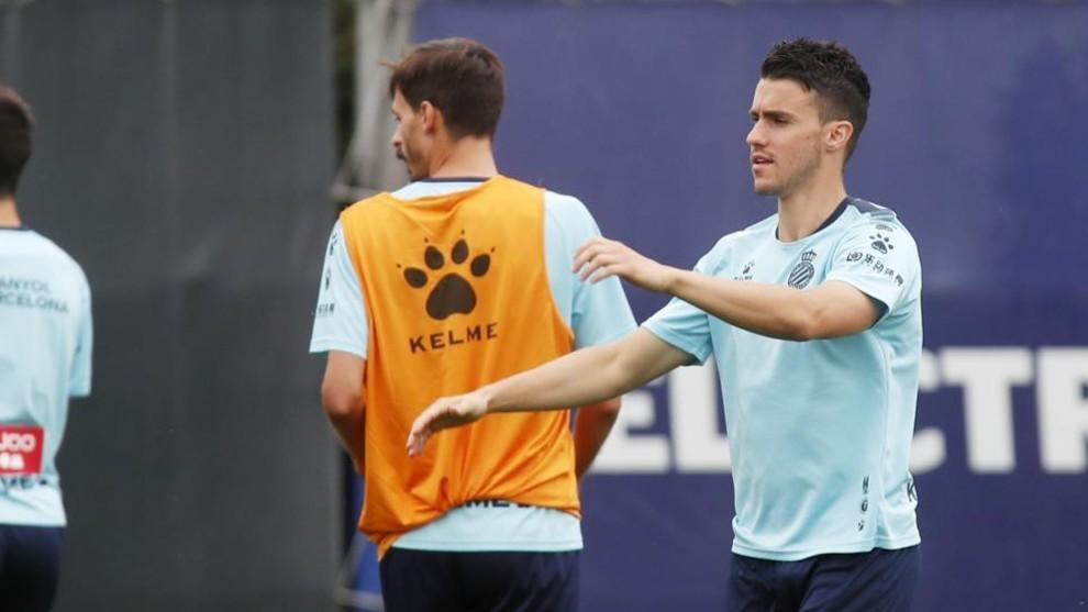 Corchia, en un entrenamiento en la Ciudad Deportiva.
