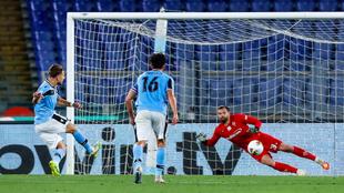 Immobile anota el tanto del empate ante el Torino desde el punto de...