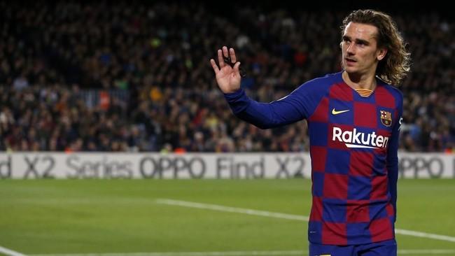 Antoine Griezmann en un partido con el Barcelona.