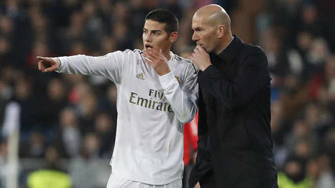 Zidane on James' complaints: I'm not angry, he's telling the truth