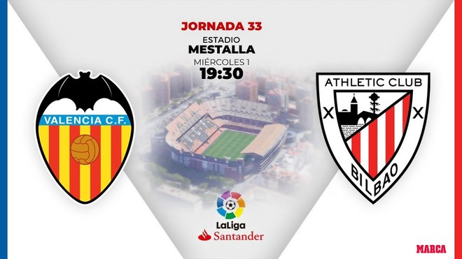 Valencia - Athletic Club, en directo