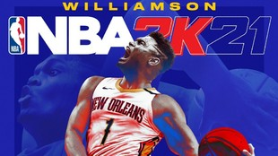 Portada del NBA 2k21 en la que aparece Zion Williamson en su portada