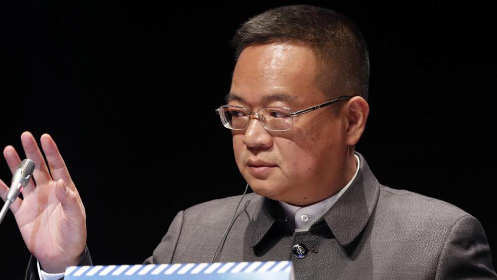 Chen Yansheng, en la Junta de Accionistas.