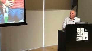 Alfonso Feijóo, durante la presentación de su candidatura
