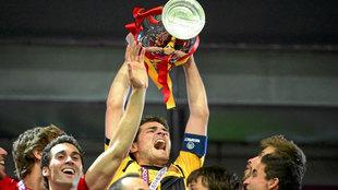 Iker Casillas, levantando la Eurocopa de 2012