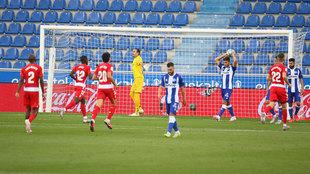 Así le sentó al Alavés un gol del Granada.