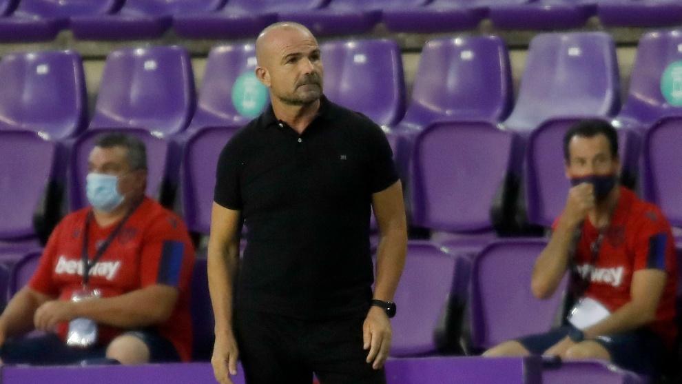 Paco López, técnico del Levante, tiene la sensación de haber...