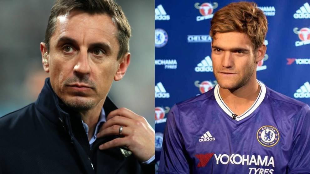 Gary Neville critica a Marcos Alonso en la derrota del Chelsea contra...