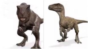 Los dinosaurios se pueden ver a través de la cámara gracias a...