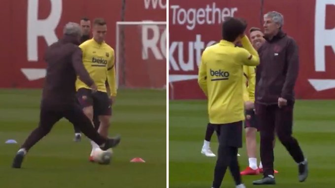 The day Arthur nutmegged Setien: Is this the source of the problem?