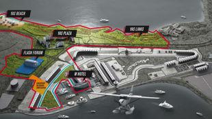 El recinto para la Fight Island.