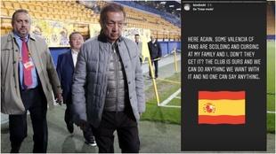 """Mensaje de la hija de Lim al  Valencia: """"El club es nuestro y podemos..."""