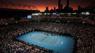 Una vista aérea de la Rod Laver Arena de Melbourne