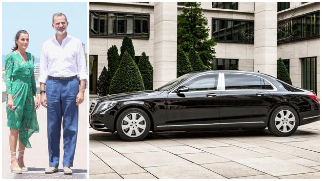 El coche del Rey Felipe VI: Los reyes estrenan un Mercedes Maybach...