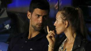 Djokovic y su mujer Jelena en el Adria Tour
