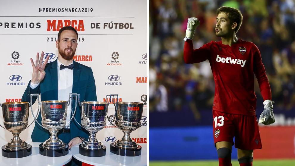 Oblak suma cuatro trofeos Zamora consecutivos y Aitor lleva el doble...