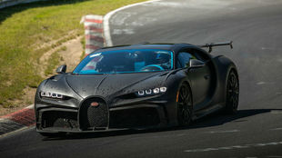 Un Bugatti Chiron Pur Sport rueda en Nurburgring.